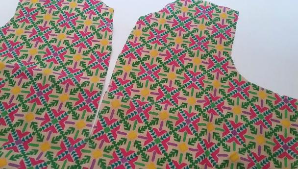 placket neck design stitching
