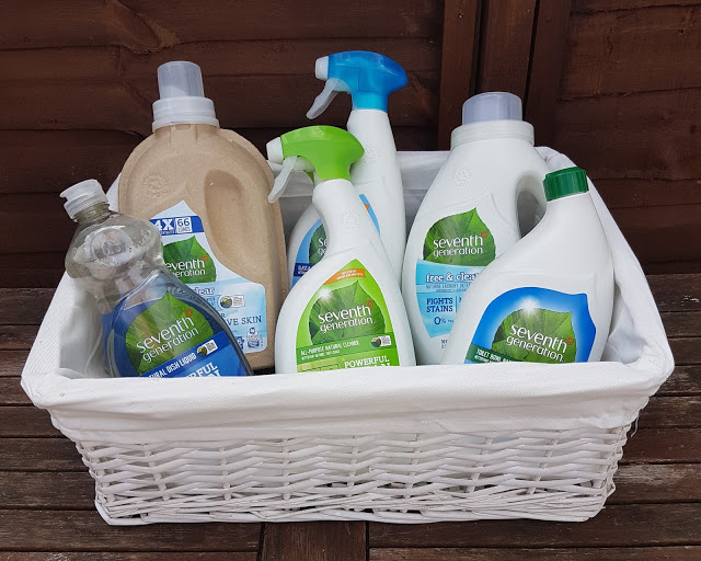 A Basket full of Seventh Generation Cleaning Products