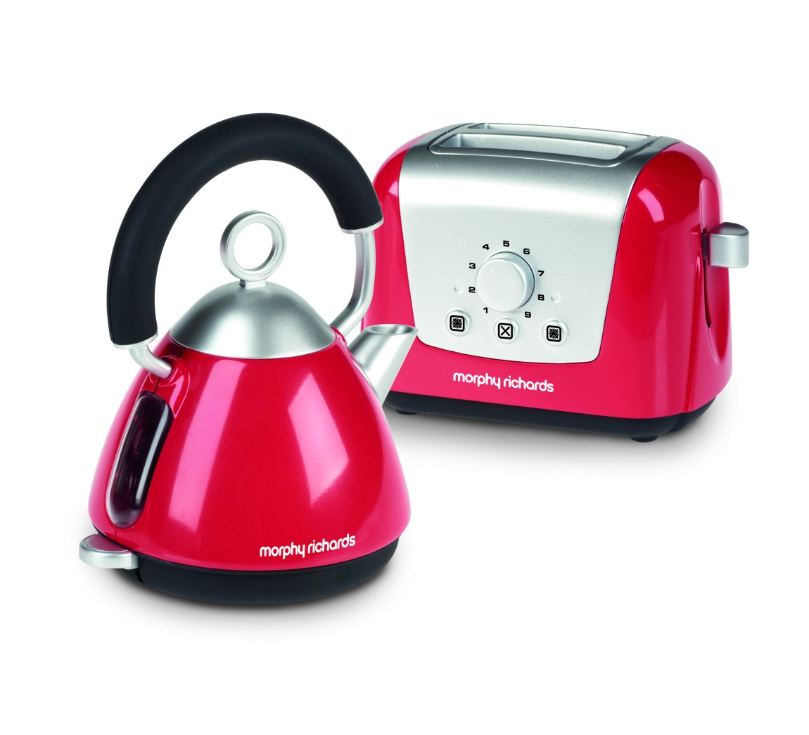 Red Kettle and Toaster Toys