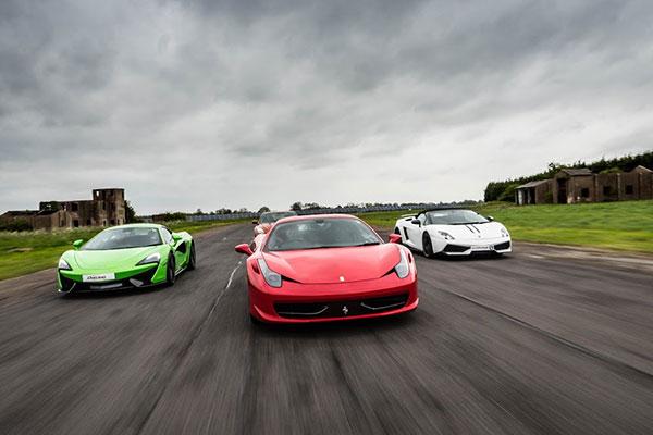 three super cars