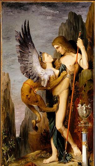 Sphinx goddess Oedipus