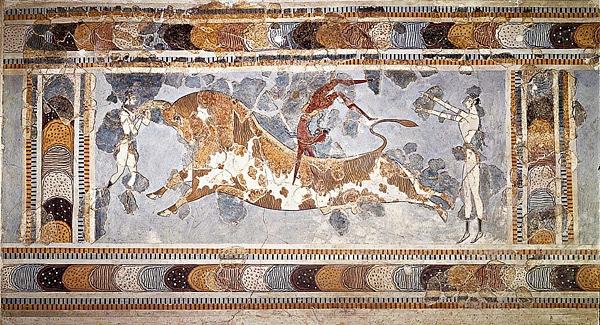 Knossos Minoan bull leaping