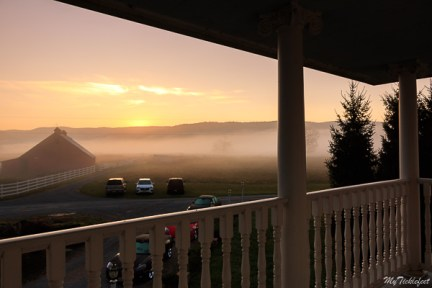 A beautiful sunrise at our Bed and Breakfast in West Virginia