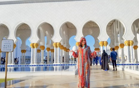 You will get an overall cover to enter the Grand Mosque Abu Dhabi