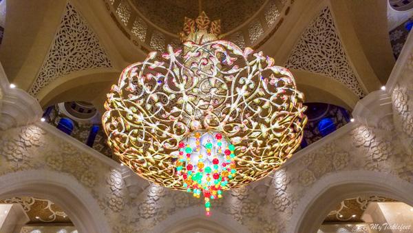Chandelier inside Sheikh Zayed Grand Mosque, Abu Dhabi