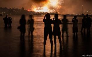 Fireworks display over Sydney's Harbour Bridge for NYE