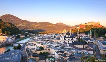 Sound of Music town of Salzburg in Austria