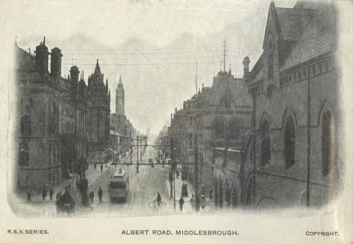 Buildings on Albert Road (1906)