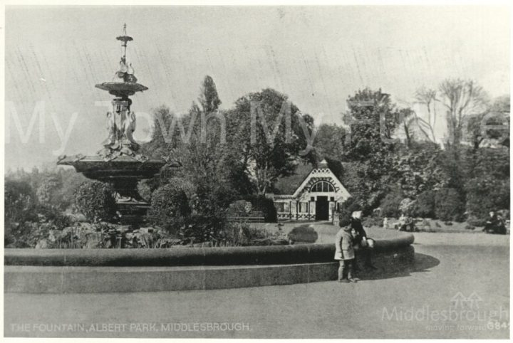 Albert Park fountain (1900)