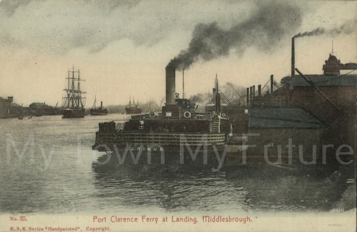Ferries - Port Clarence Ferry at Landing Middlesbrough - Postcard 35__RSK Series_