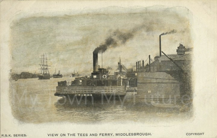 Ferrys View of the Tees and Ferry, Middlesbrough Postcard