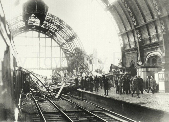 Bomb Damage - Middlesbrough Railway Station after Raid of 3rd August 1942