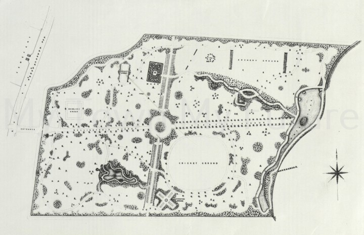 Albert Park - Plan of the Park