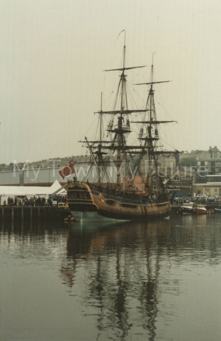 HMS Endeavor Replica In Whitby, 14 May 1997