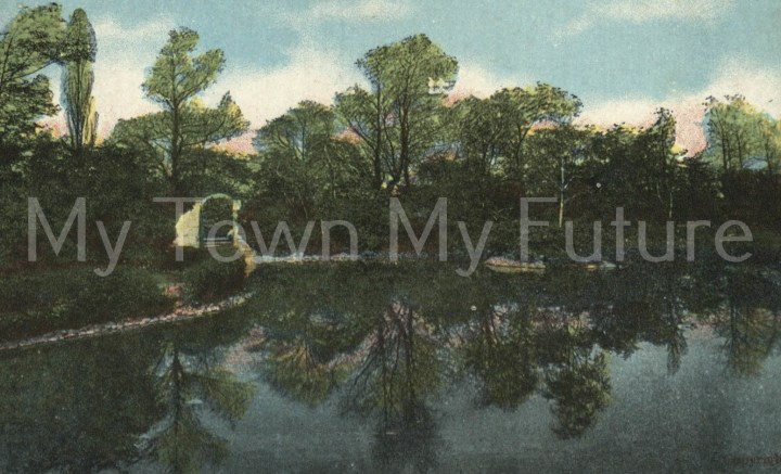 Albert Park - Postcard - Lake View - to Miss White_Postmarked - October 6th 1909