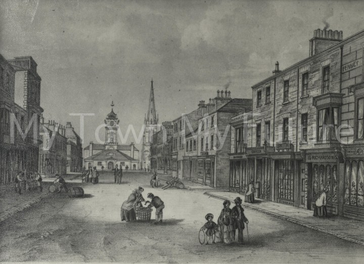 South Street as it appeared in 1855, the year Alderman Bruce was born.