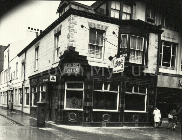 The Masham Hotel, 13 May 1871, Corner of Vaughan St & Linthorpe Rd, c1960s - 1st opened in 1865 as The Albion House - Closed 3 Jan 1995 - Grade II