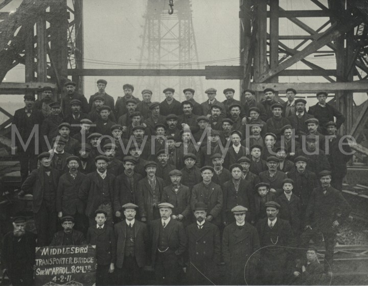 Transporter Bridge - Workmen, 4th February 1911, Department of Planning - Cleveland County Council
