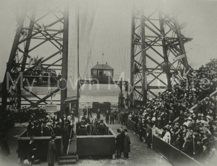Transporter Bridge - Opening by Prince Arthur of Connaught to Crowds, 17th October 1911