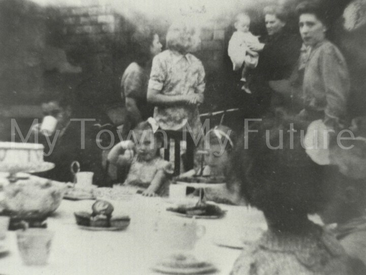 VE Day 1945 Tennyson Street party June 1945