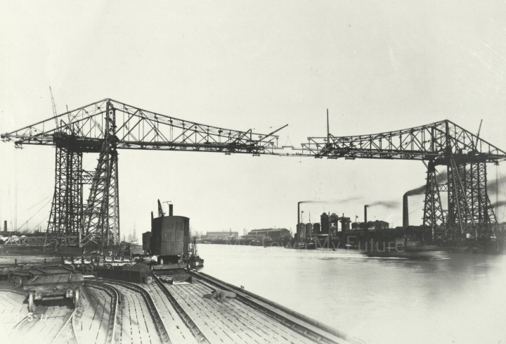 Transporter Bridge - Near Completion, 1911, Department of Planning - Cleveland County Council
