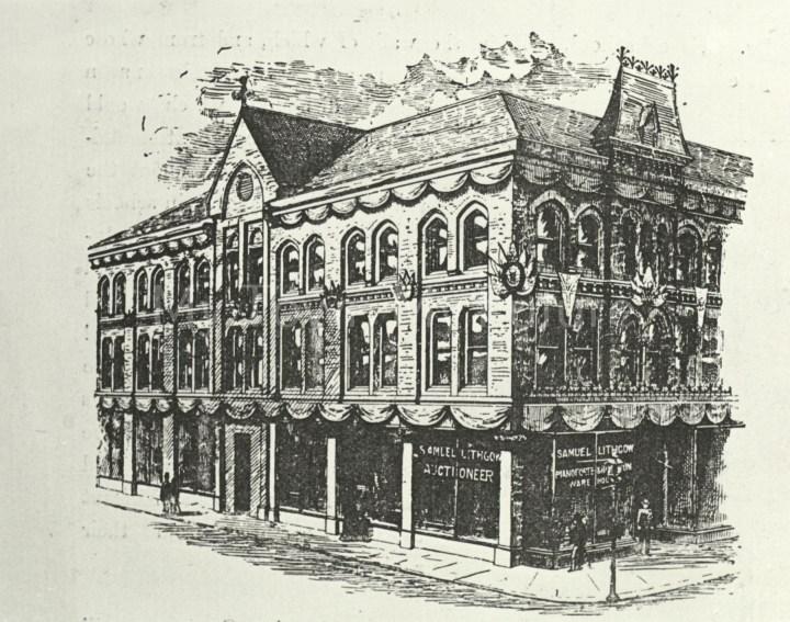 Samuel Lithgow's Store, Newport Road c1889