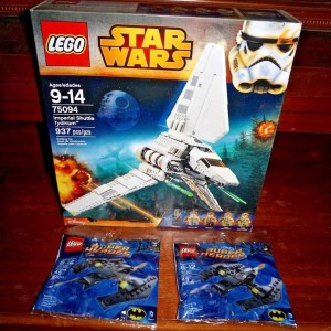 LEGO Star Wars Imperial Shuttle Tydirium 75094 BONUS Two LEGO Batwings 30301 NEW