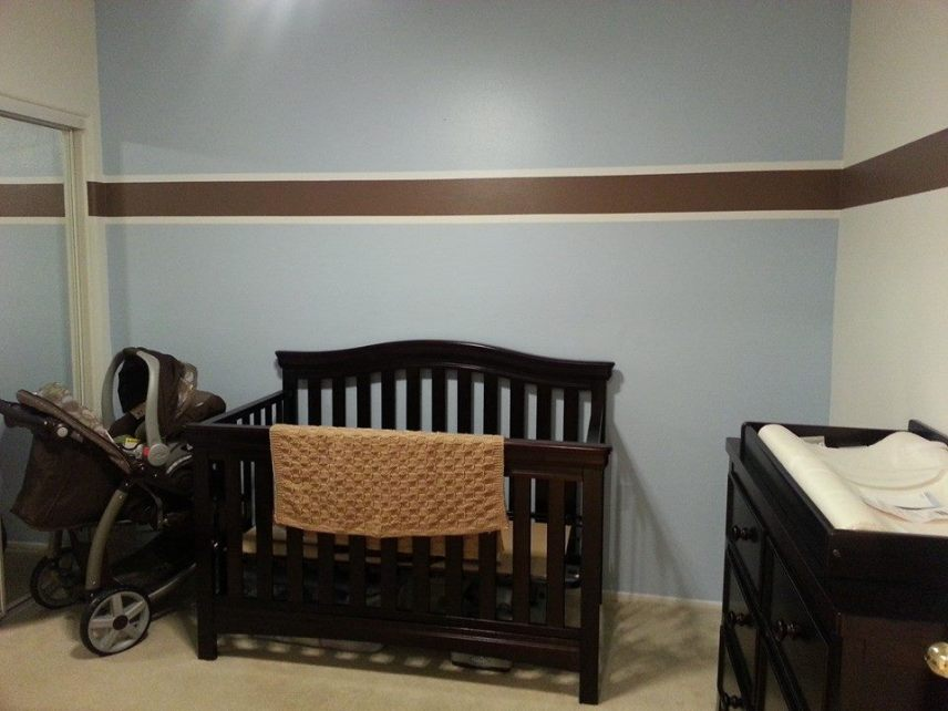 Babydecke im Schachbrettmuster