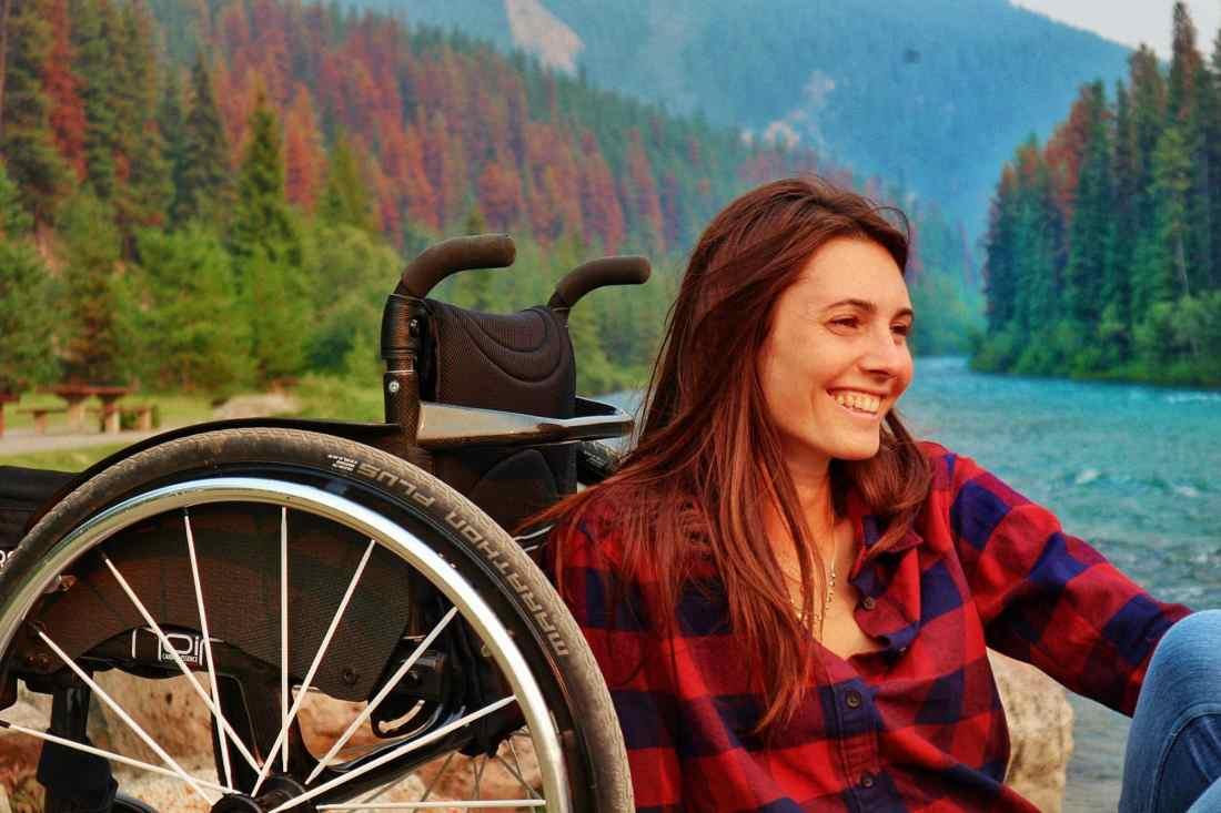 Giulia Lamarca in Banff National Park, Canada