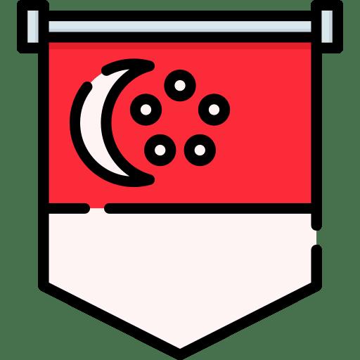 la bandiera di singapore