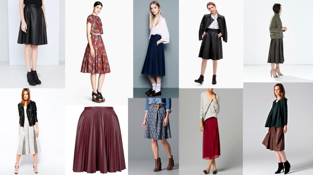 Tendencias de temporada falda midi tiendas