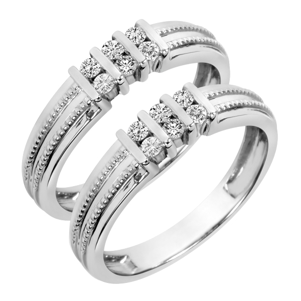 4 Lovely Same Sex Matching Bridal Ring Sets My Trio