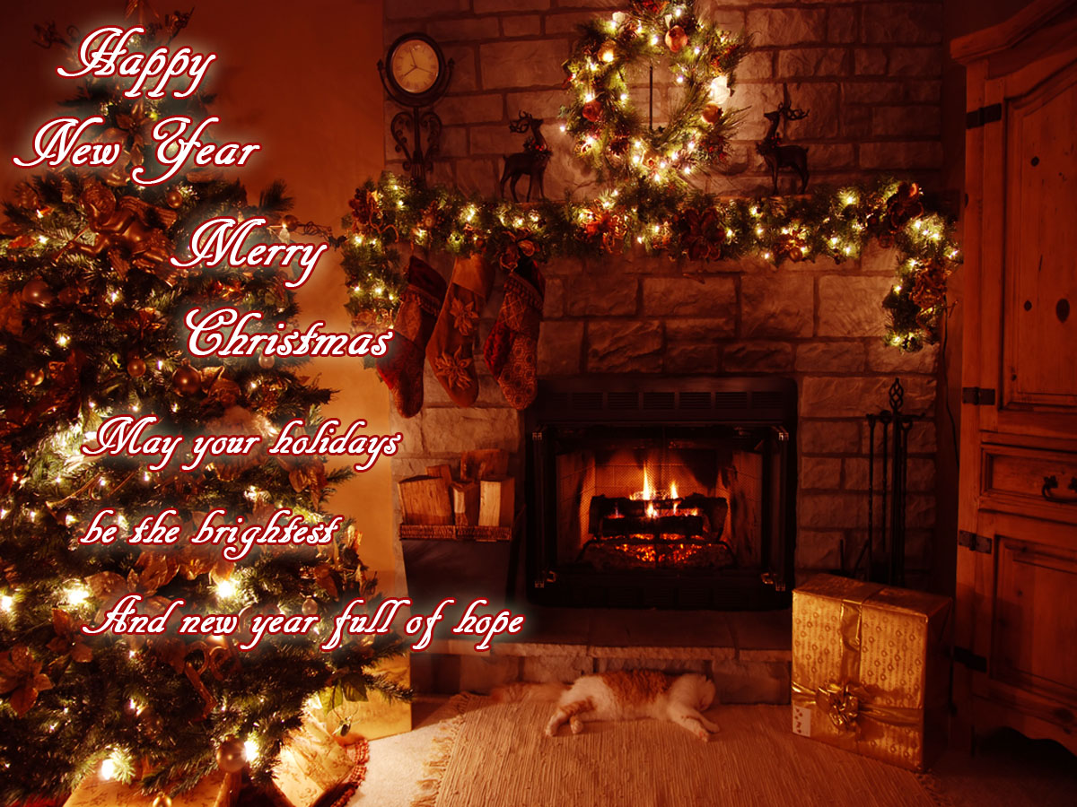 Christmas 2013 New Year 2014 Wallpaper Greeting E Cards