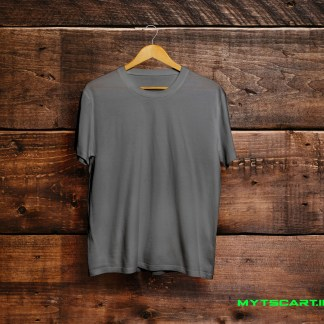 Charcoal grey plain t shirt