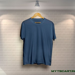 100% Cotton Navy Blue Plain T shirt @299 Only