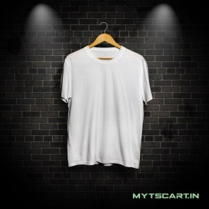 100% Cotton White plain t shirt @299 Only