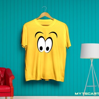 Yellow smiley panda t shirt
