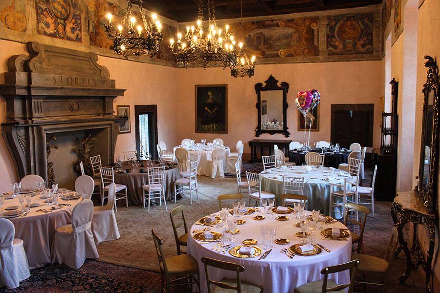castello di Torre Alfina sala per matrimoni