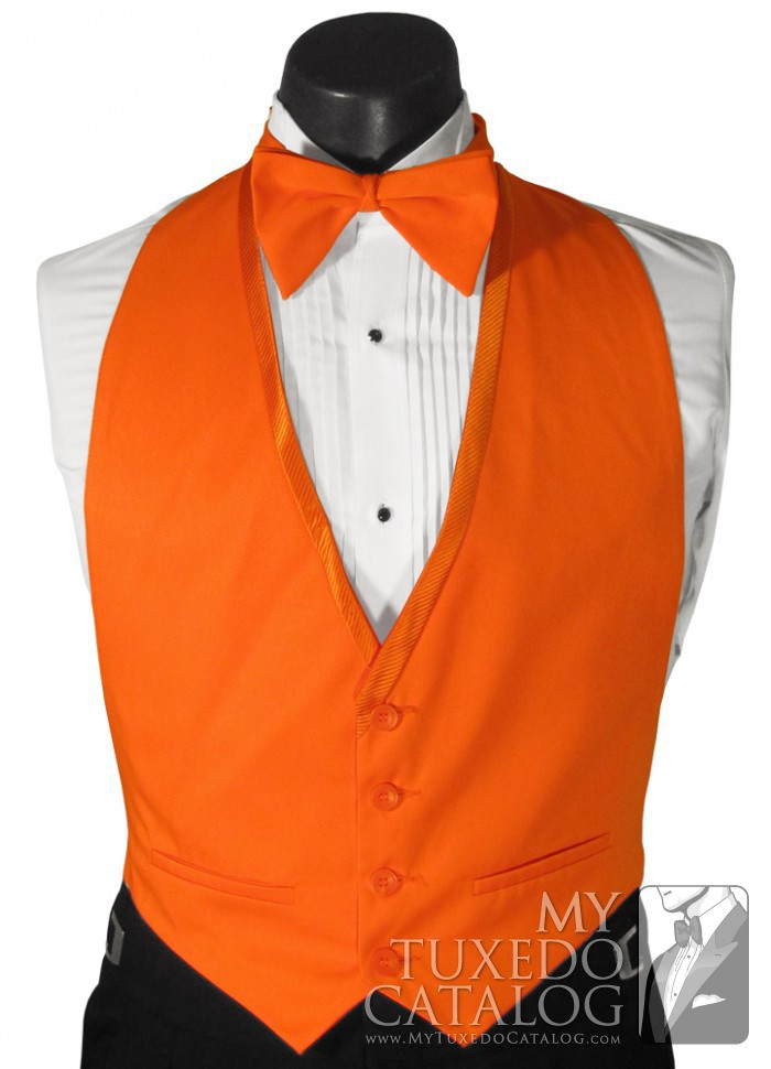 Orange Vest Vests Mytuxedocatalog Com