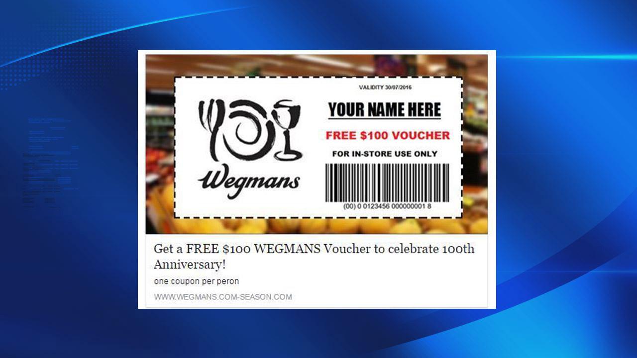 Wegmans scam voucher-118809342