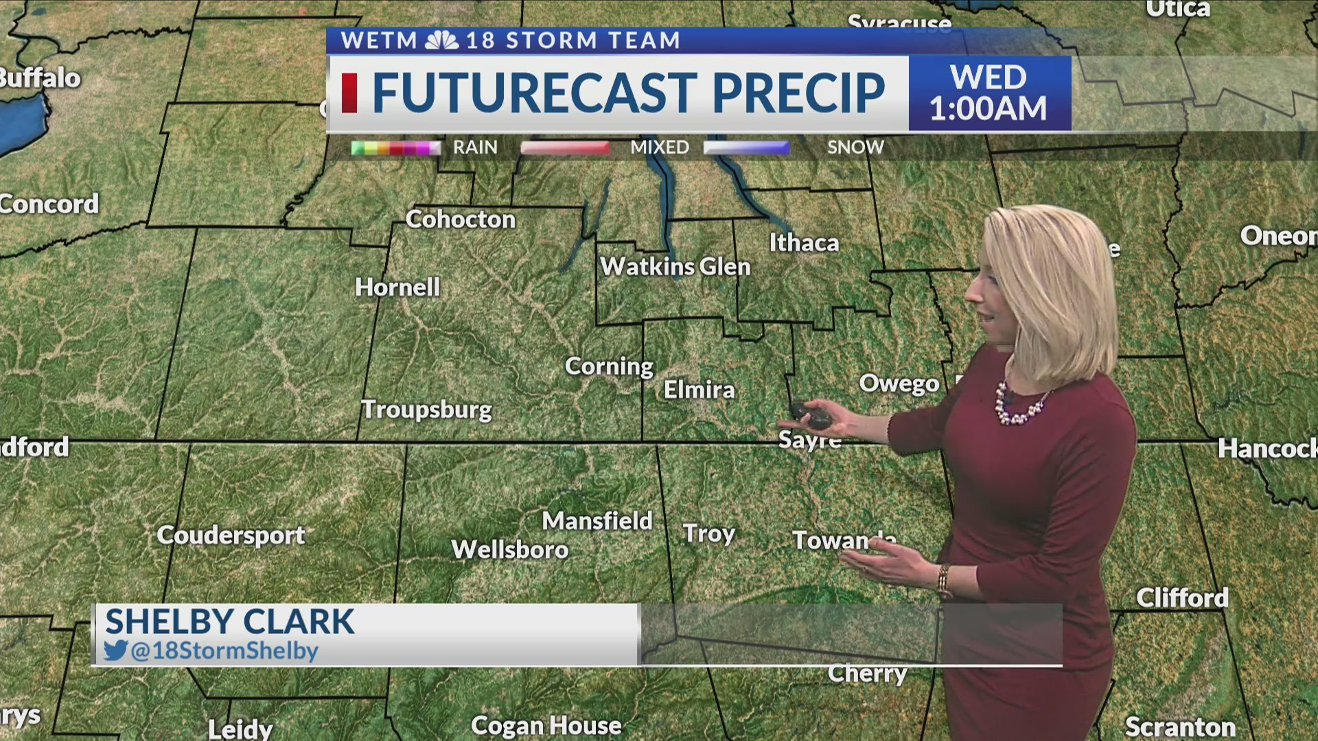 Tuesday Evening's 7-Day Forecast (3/26/19)