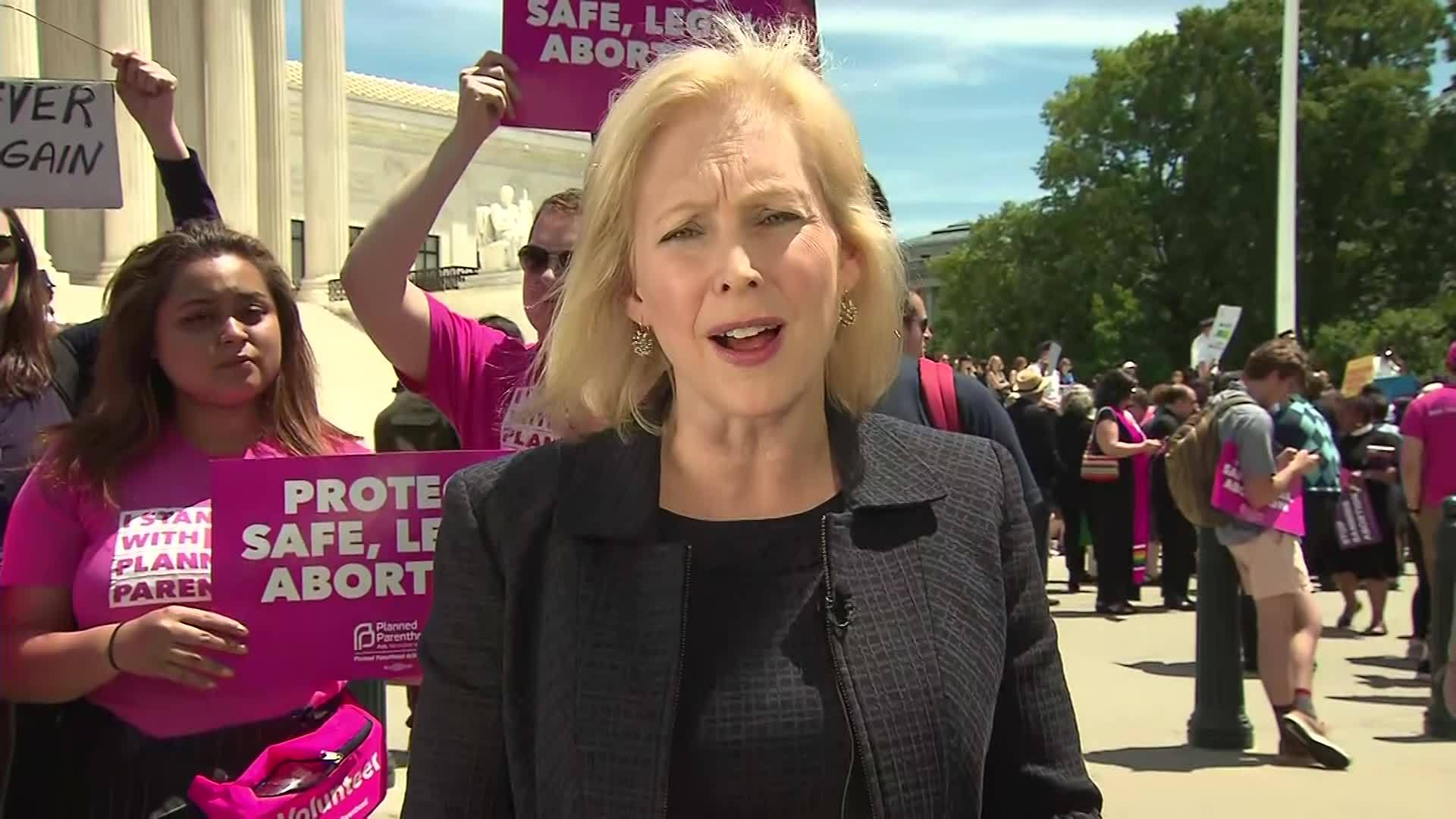 ABORTION RALLY/GILLIBRAND: FIGHTING FOR 4 THINGS
