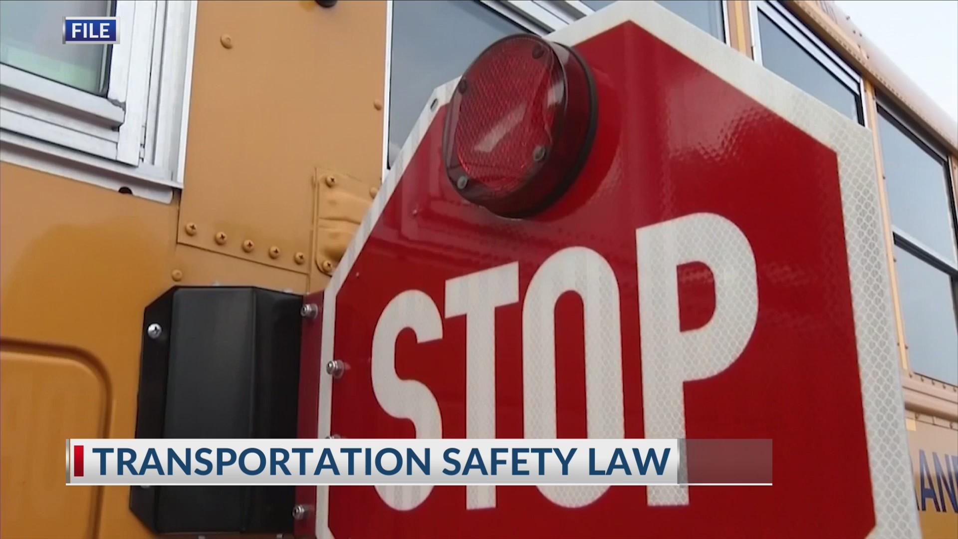 School bus 'stop-arm' camera legislation awaiting Governor's signature