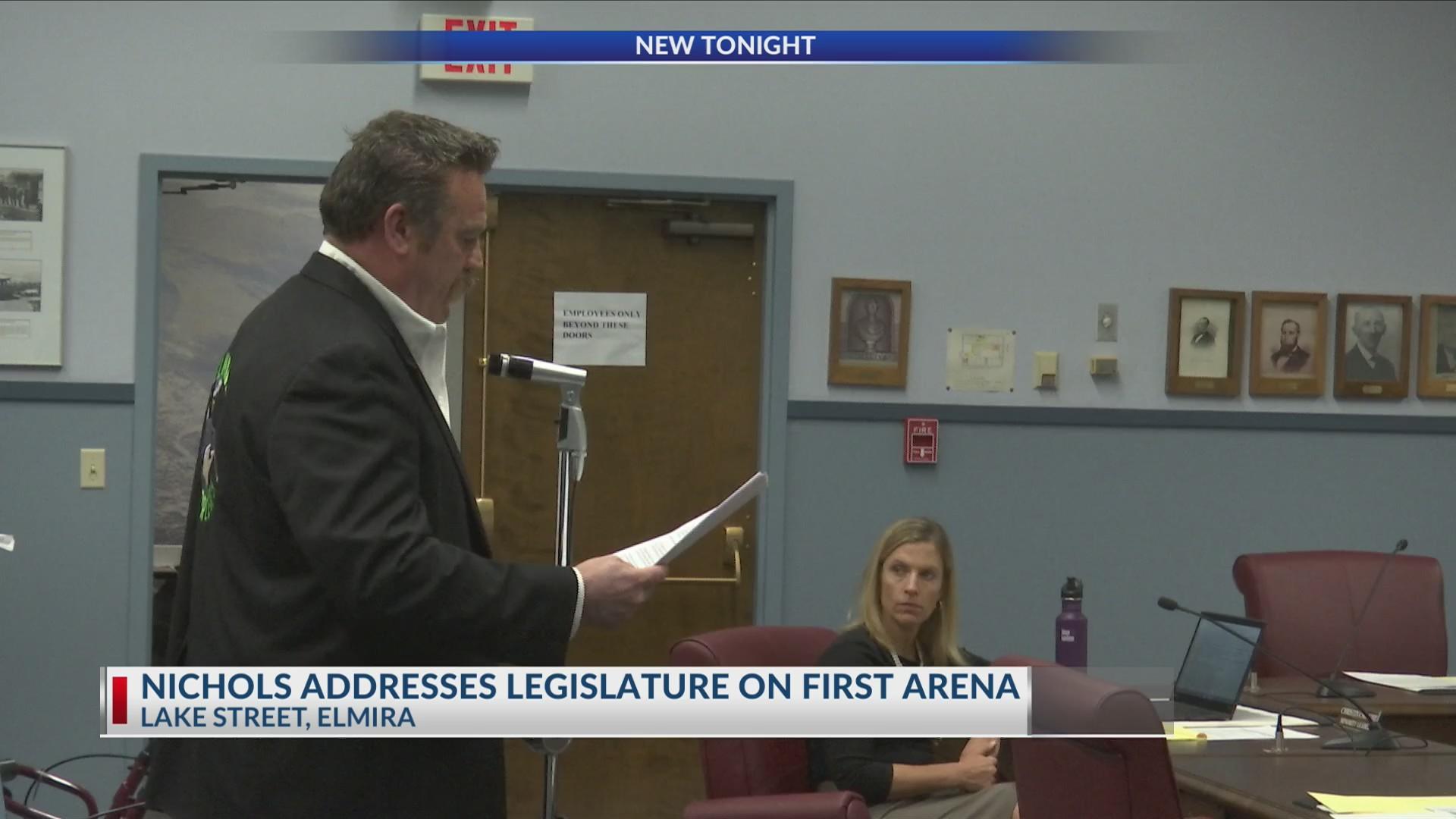 Nichols Addresses Legislature on First Arena