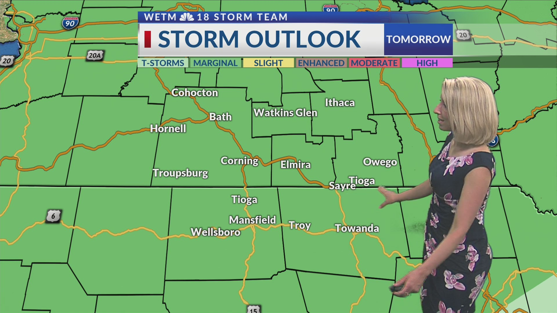 Tuesday Evening's 7-Day Forecast (6/25/19)
