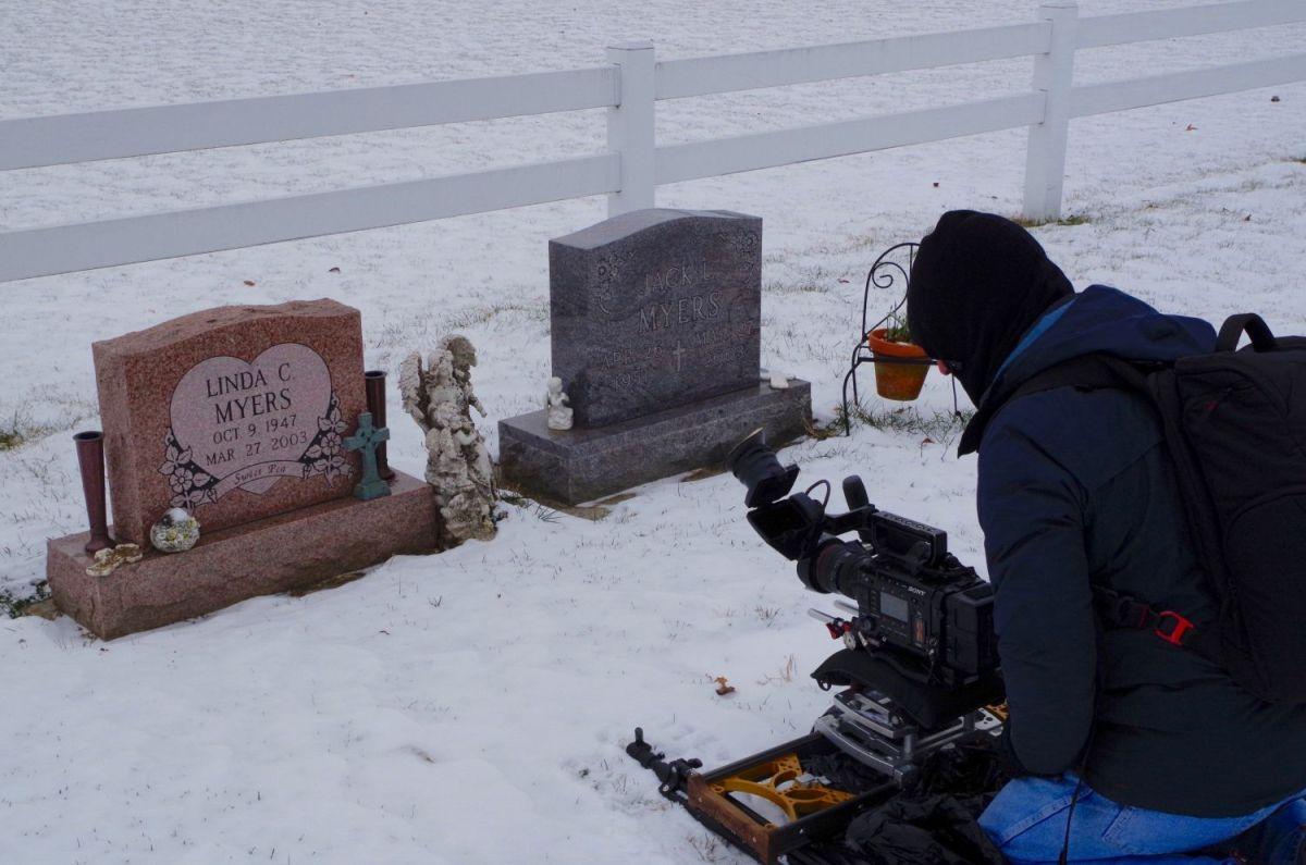 MYT Works 4ft Medium Camera Slider being used in snow