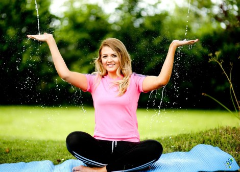 Yogi Helen McAleer celebrates this year's Sunflowerest 'Bliss' line-up, sponsored by Vita Coco coconut water.  Anchored by a unique chill-out zone where festival-goers can kick back and escape the summer heat while rehydrating with complementary coconut water, Sunflowerfest's Bliss will include a range of local music, complementary therapies and all-inclusive yoga sessions for kids and adults, offering an opportunity to refresh and unwind during the weekend-long festival 31st July – 2nd August. For further information visit www.sunflowerfest.co.uk Picture By: Paul Moane, Aurora PA.