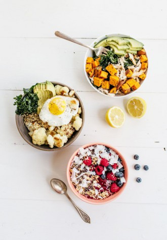 Breakfast, Lunch and Dinner Power Bowls
