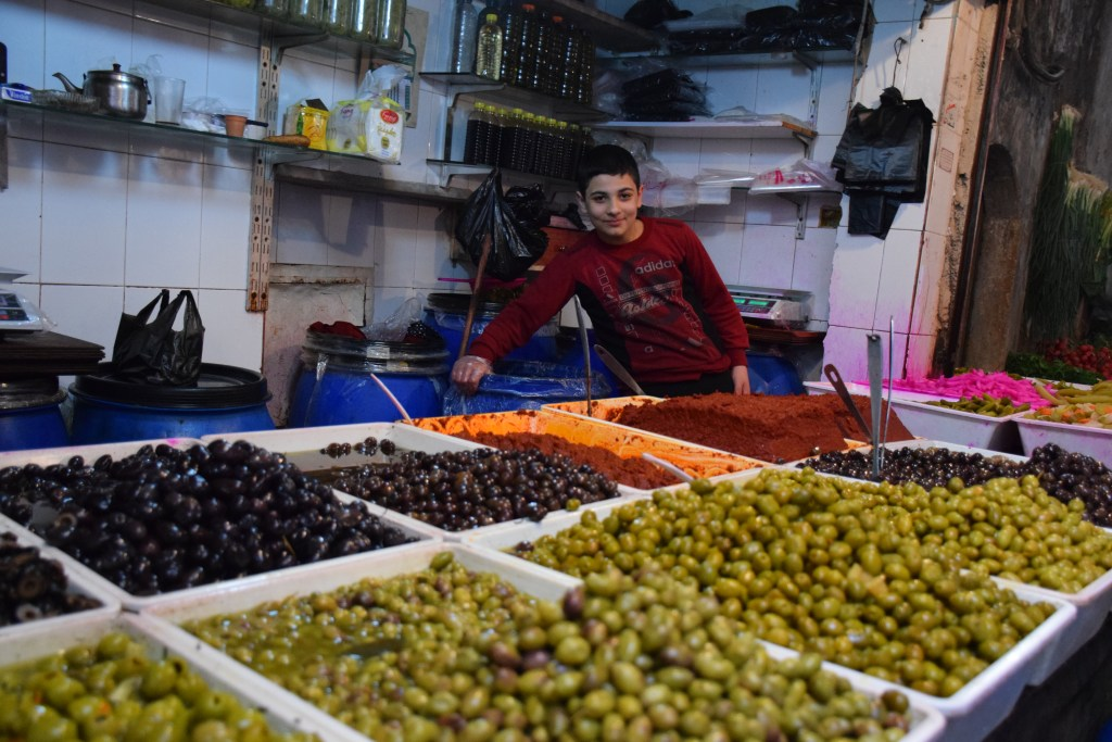Tripoli, Lebanon, vegetable souq, market, olives, pickles, human connections