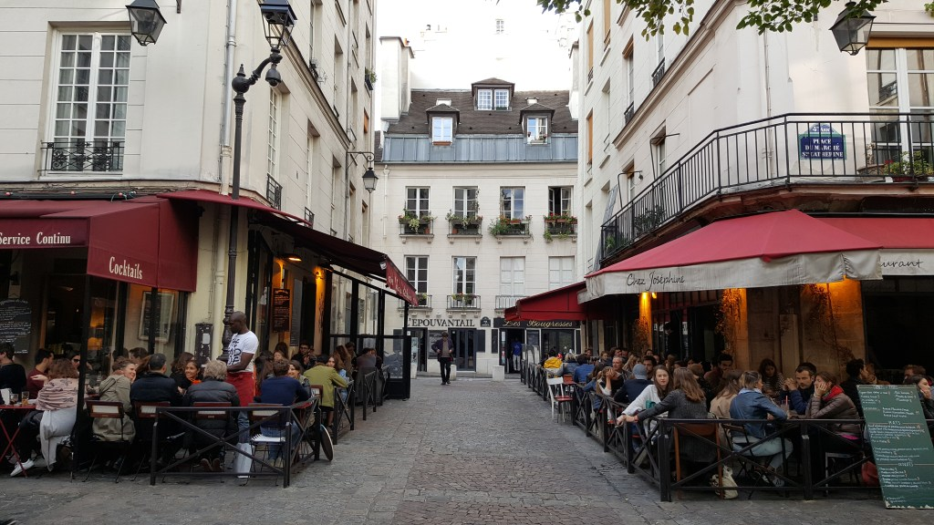 Marais district, Paris, France, cafe, street, architecture, old neighborhood, Parisian